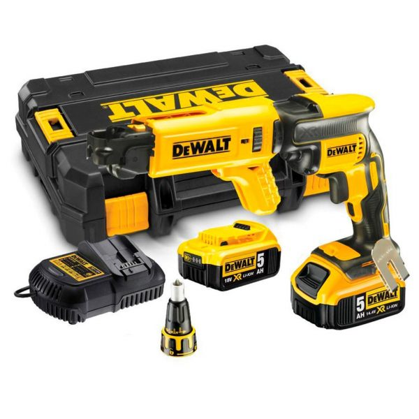 Dewalt cordless Collated Drywall Screwdriver 2 x 5Ah Batteries