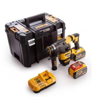 DeWalt 54V Flexvolt SDS Plus Hammer Drill with 2 x 9Ah Batteries,Charger and Carry Case.