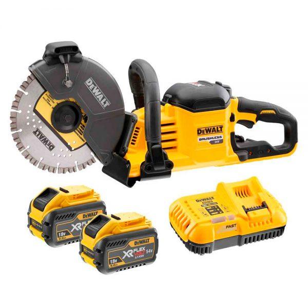 Dewalt DCS690X2 54V 2X9ah batteries cut off saw