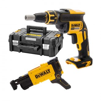 brushless drywall screwdriver dcf620n wit dcf6202 attacment and case