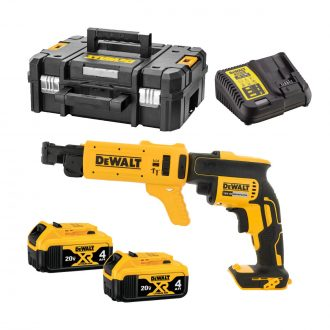 dewalt dcf620m2k brushless collated drywall screwgun autofeed with batts and case