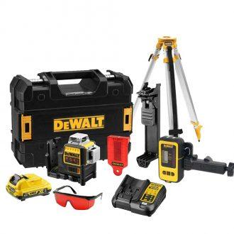 DeWalt DCE089D1R Laser Set, DE0892 Laser Detector and DE0736 Tripod