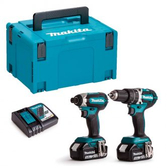 Makita DLX2180TJ Double Power Tool Pack Set with MAKPAC