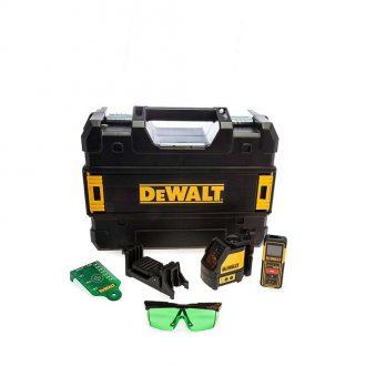 DeWalt DW0889CG Self Levelling Green Line Laser & DW088CG 100 ft Distance Measurer