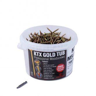 KTX Gold Premium Professional Wood Screws TUBS
