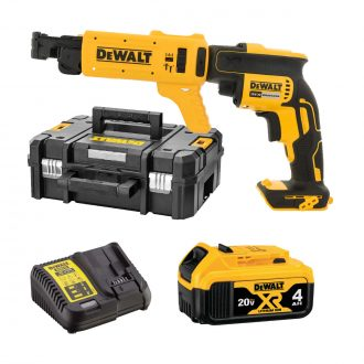 dcf620m1k dewalt screwdriver with atachment, battery, case and charger