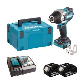 makita dtw700rtj lxt brushless impact wrench with batts charger and case